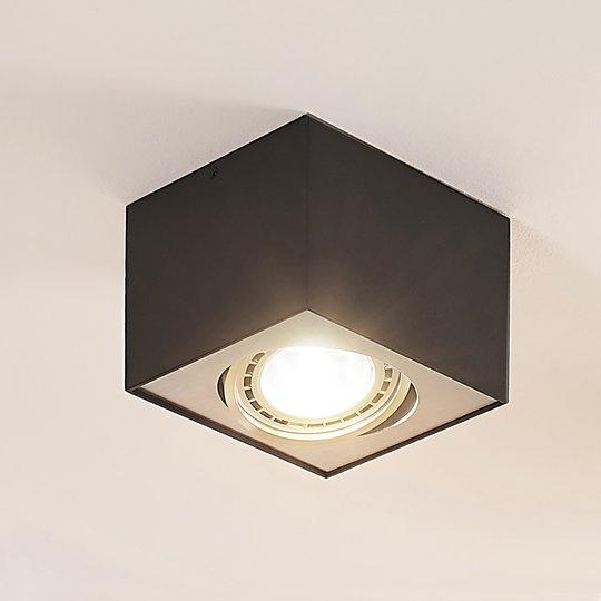 Arcchio Dwight -LED-kattospotti, musta 1-lamp.