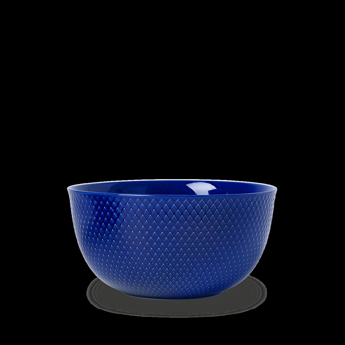 Lyngby Porcelæn - Rhombe Color Serving Bowl Dia. 22cm - Dark Blue (201915)