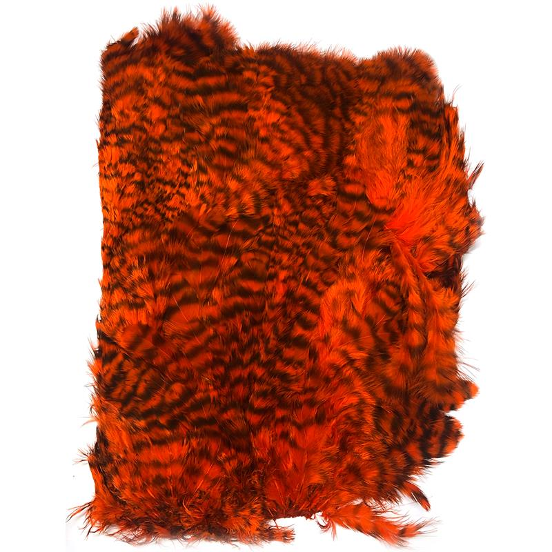 Softhackle patch Grizzly Orange