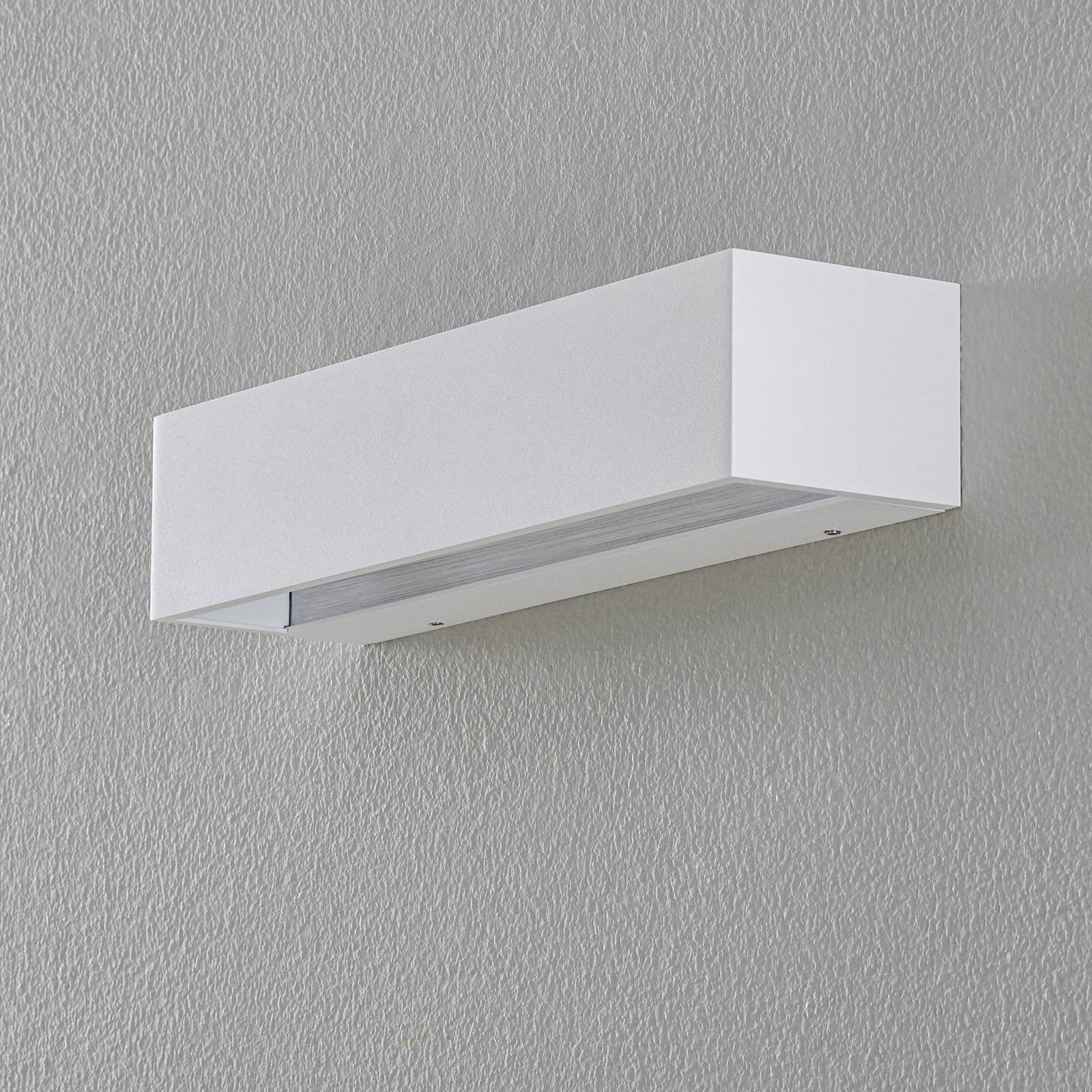BEGA Studio Line vegglampe bred hvit/alu 30 cm