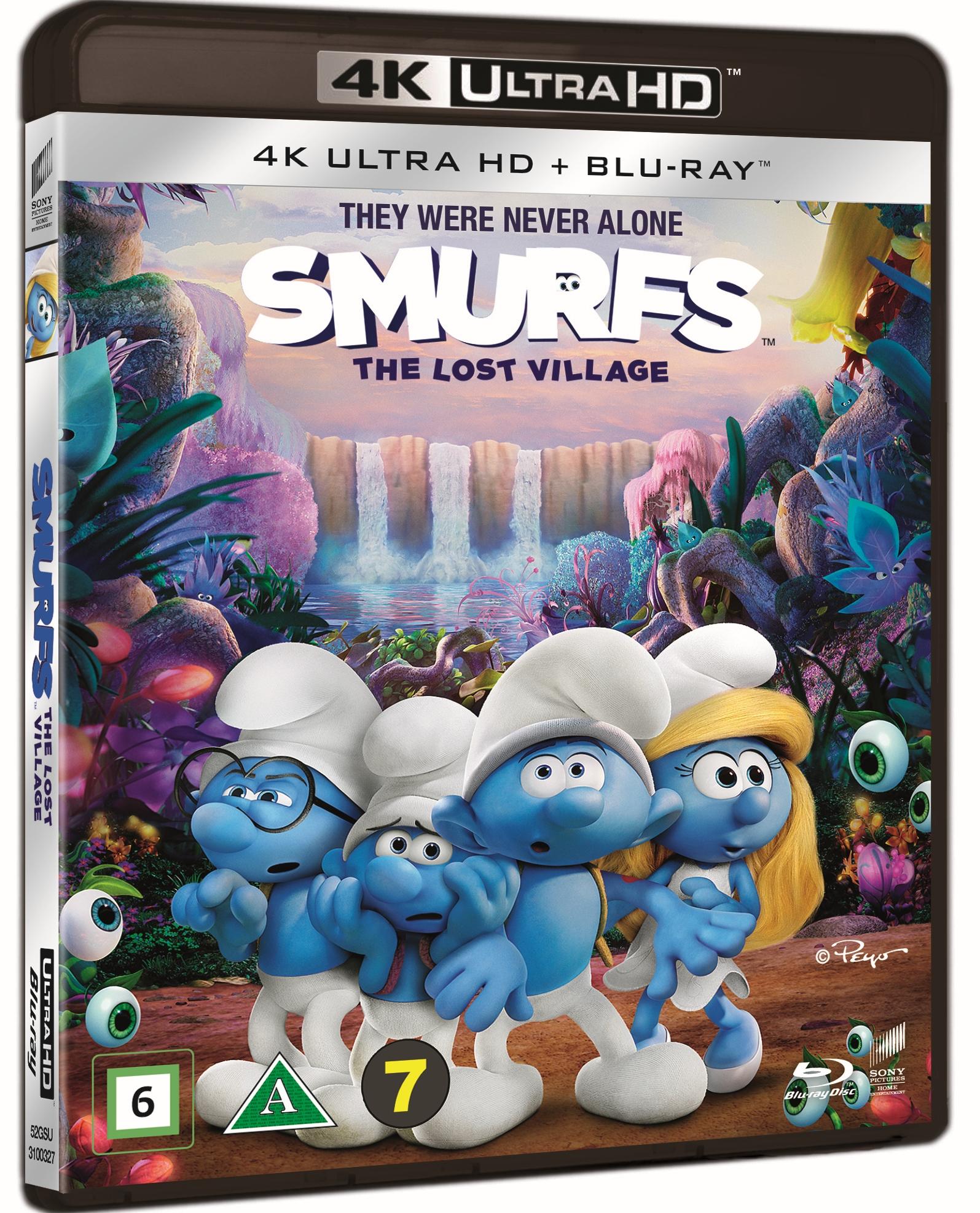 Smølferne - Den Hemmelige Landsby (4K Blu-Ray + 2D Blu-Ray)