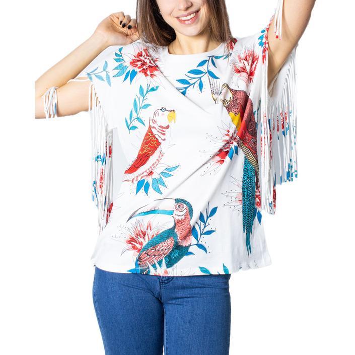 Desigual Women's T-Shirt White 172351 - white XS