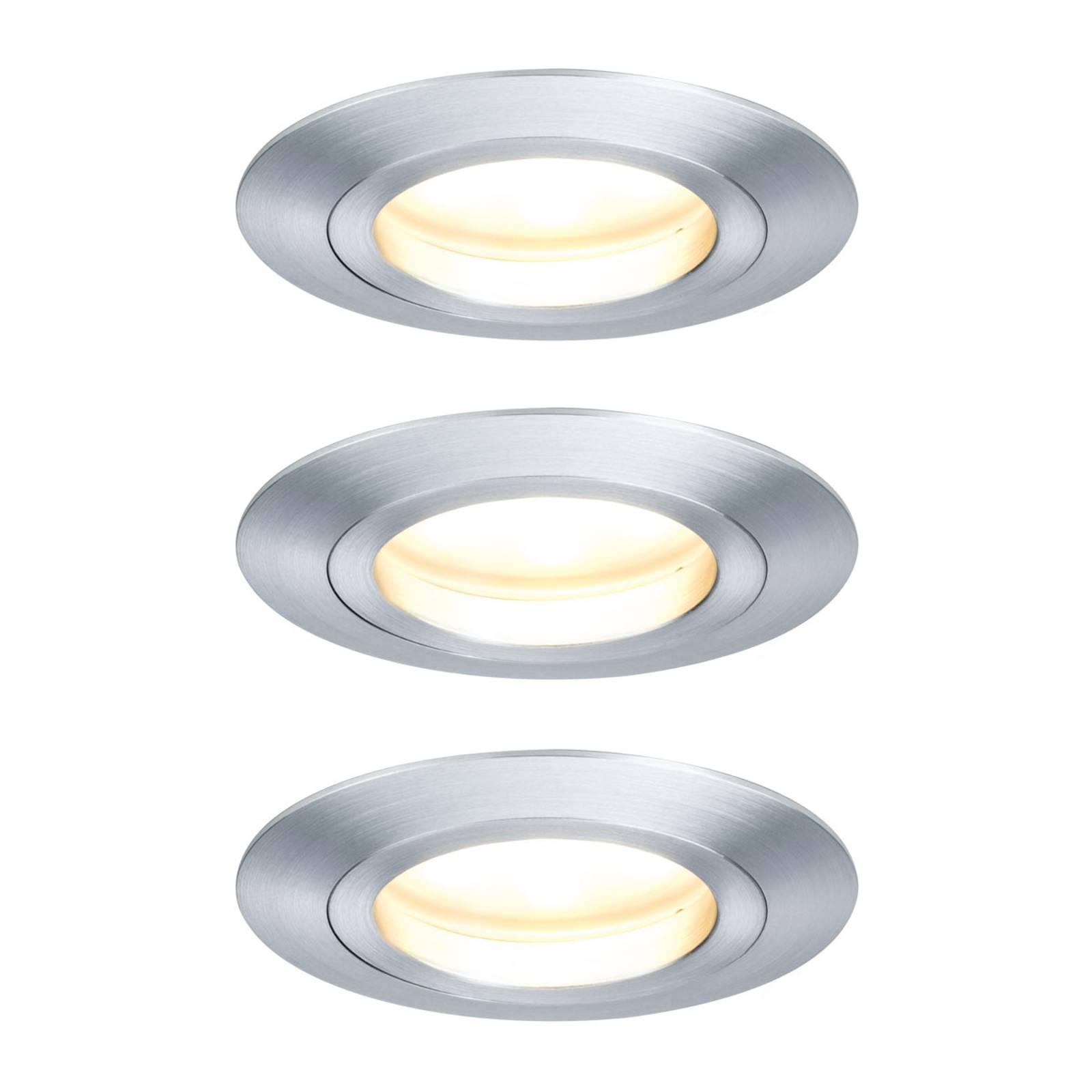 Paulmann 3 LED-spottia, 7 W, himmennys alumiini
