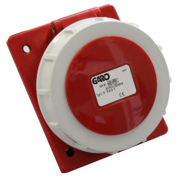 Garo UISV 316-6 S Paneluttak IP67, 4-polet, 16 A, skrå Rød, 6 h