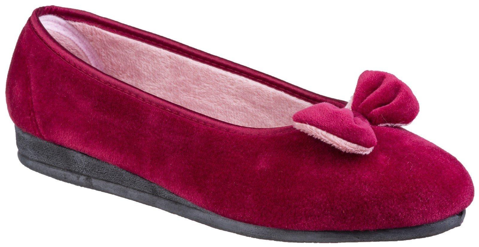 Fleet & Foster Women's Baltimore Slip On Slipper Various Colours 27197 - Red 3