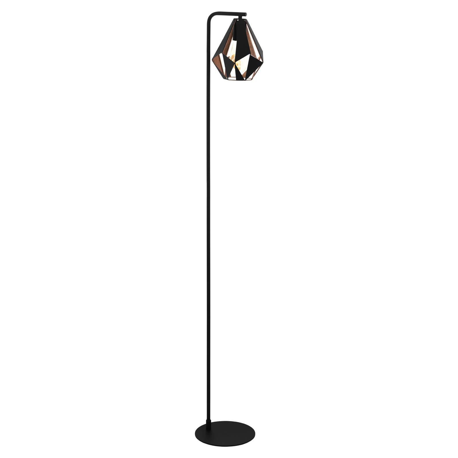 Gulvlampe Carlton 4 i svart/kobber