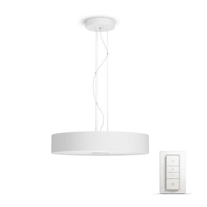 Philips Hue - Fair Hue pendant white 1x39W 24V With Dimmer Bluetooth