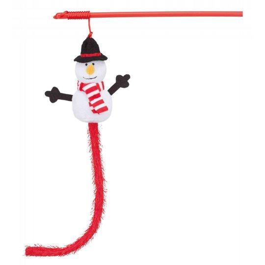 Trixie JUL kattvippa med snögubbe 31 cm