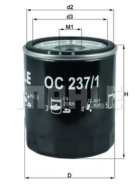 Öljynsuodatin KNECHT OC 237/1
