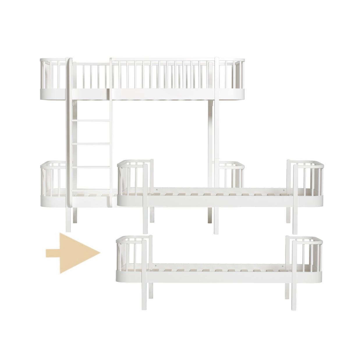Ombyggnadsset Våningssäng till 2 st Sängar Wood