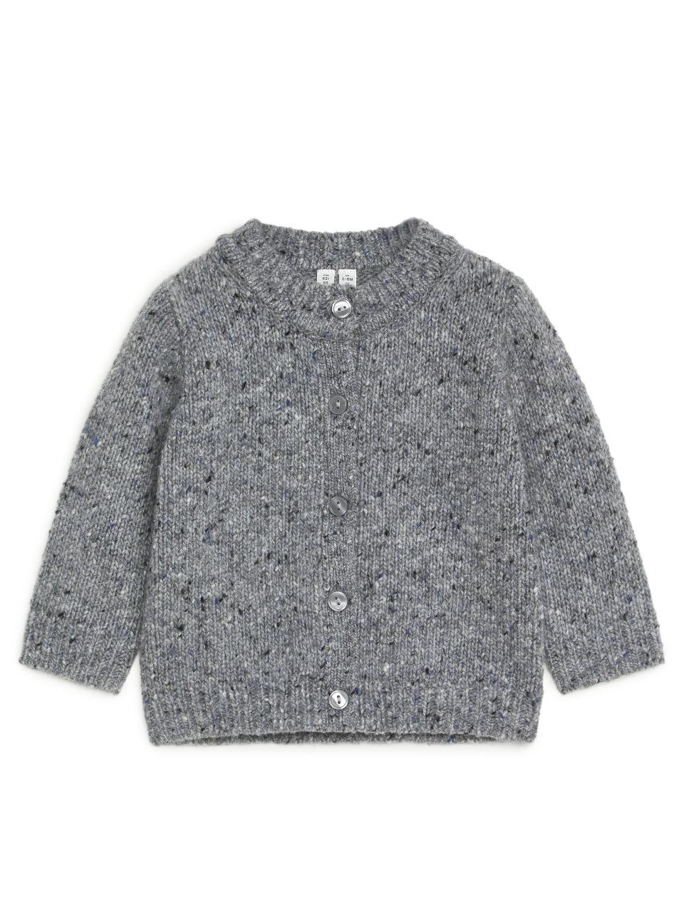 Merino Wool Cardigan - Grey