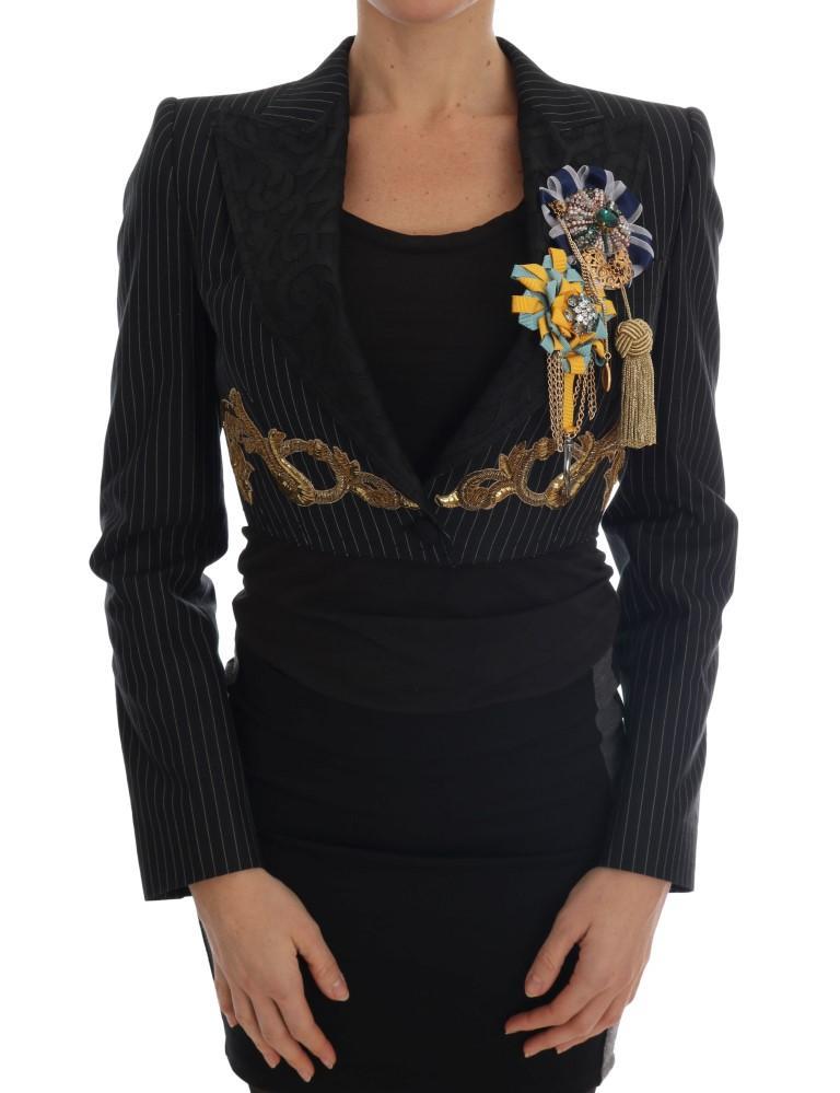 Dolce & Gabbana Women's Crystal Blazer Black JKT1119-1 - IT40|S
