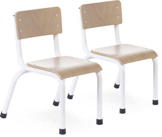 Childhome Stol Metall 2-pack, White