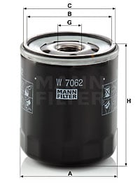 Öljynsuodatin MANN-FILTER W 7062