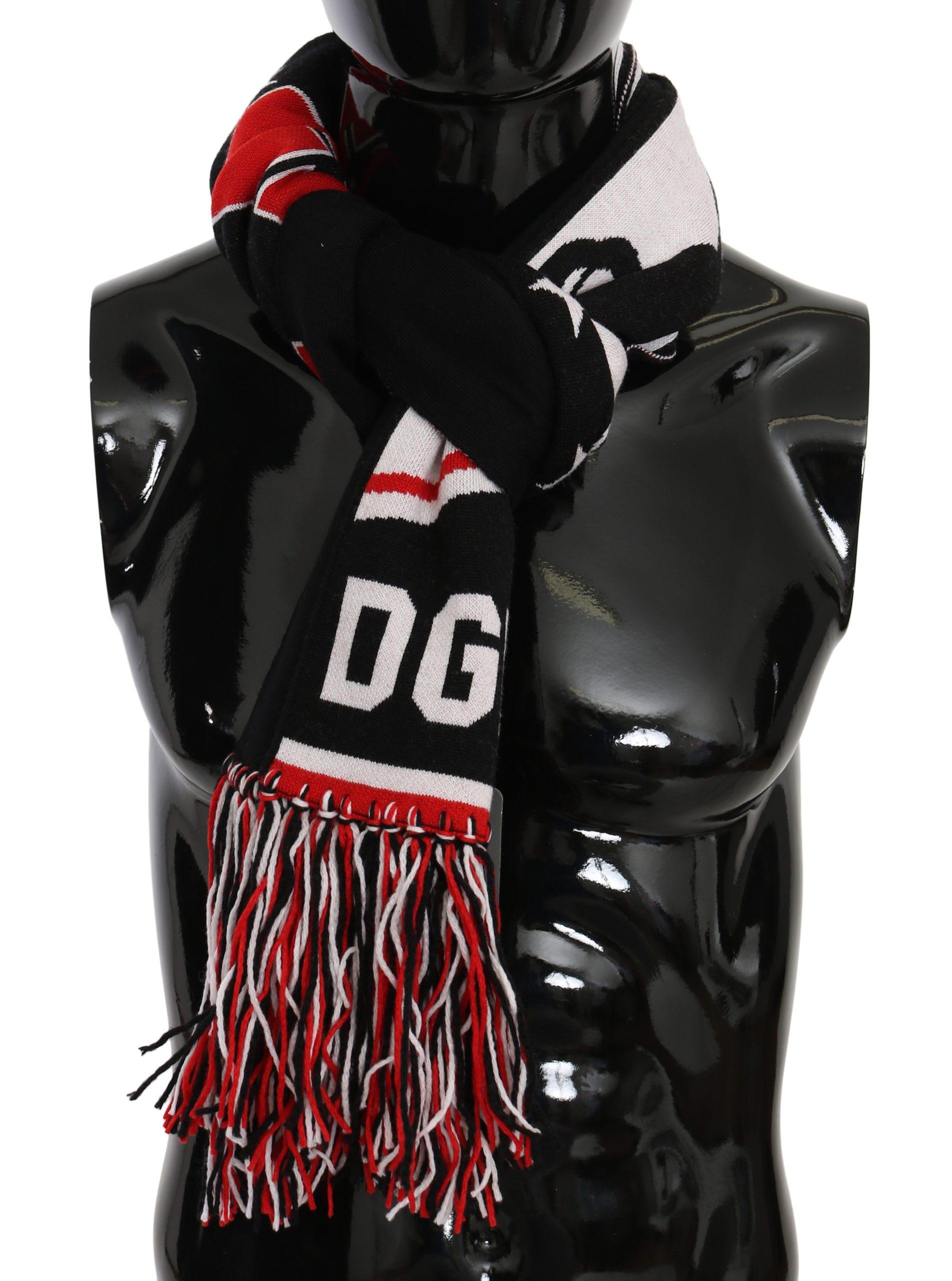 Dolce & Gabbana Men's DG Royals Fringe Wrap Scarf Multicolor MS6087