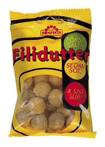 "Godis Lakrits ""Filidutter"" 65g - 22% rabatt"
