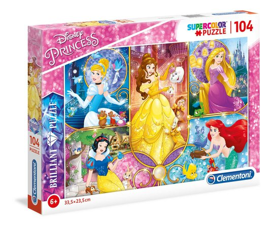 Disney Princess Brilliant Puslespill, 104 Biter