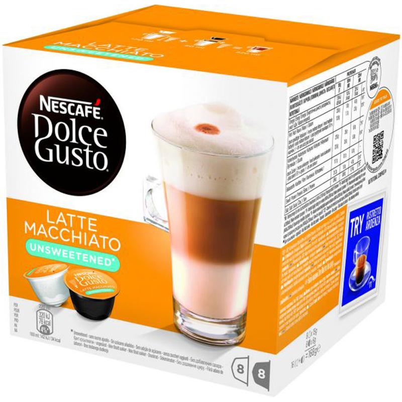 "Kaffekapslar ""Latte macchiato Unsweetened"" 16-pack - 44% rabatt"