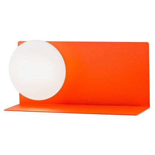 LED-vegglampe Clark med kuleglasskjerm, rød
