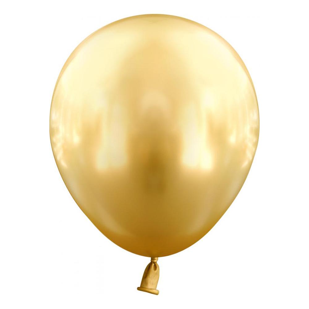 Latexballonger Mini Krom Guld - 25-pack