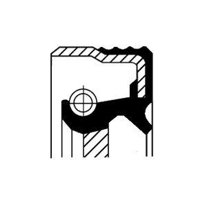 Oljepackningsring, vevaxel, Fram