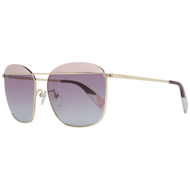 Furla Women's Sunglasses Gold SFU237 590323