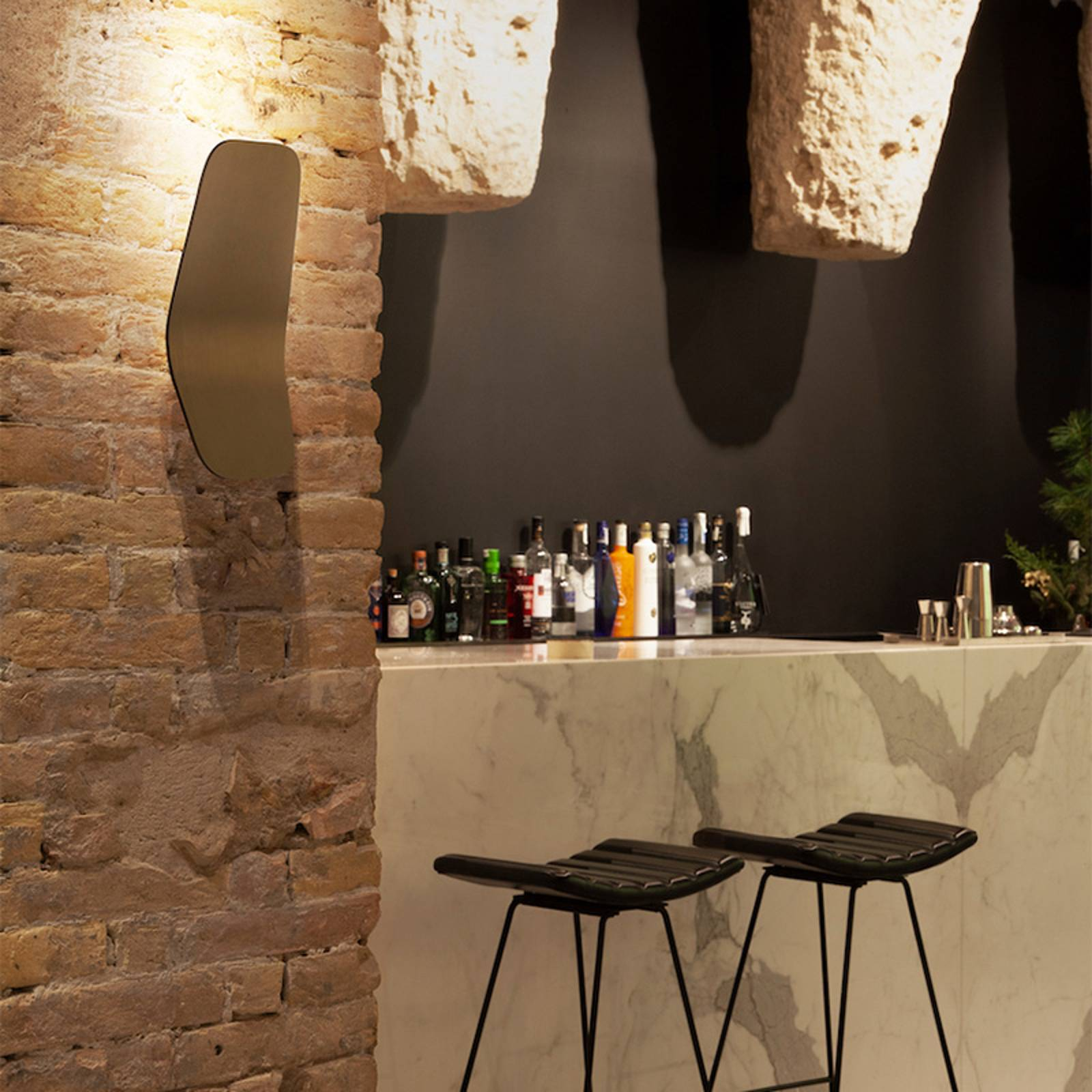 Casablanca Ashiya LED-seinävalonheitin, pronssi