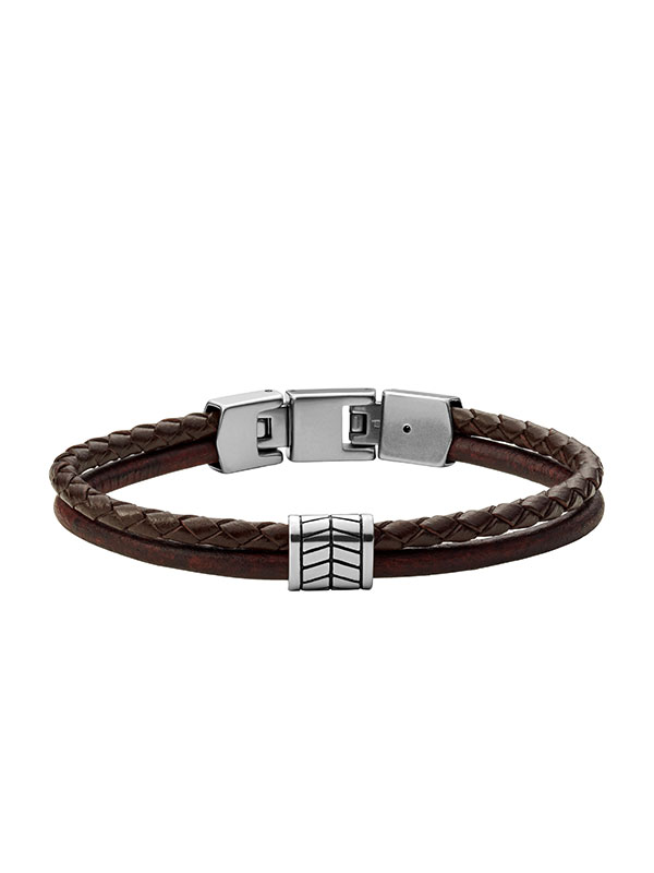 FOSSIL Armband Vintage Casual - Brun JF03847040