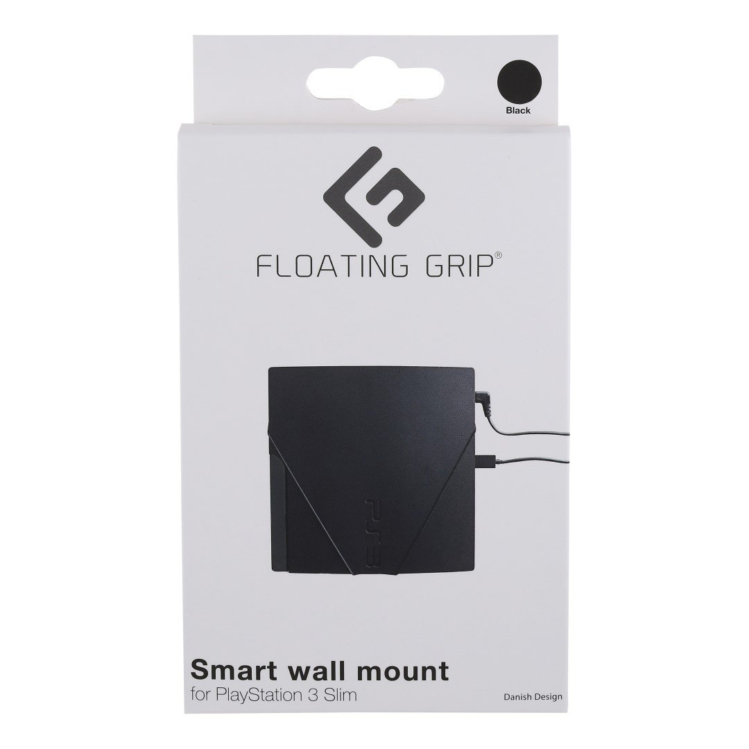 PS3 Slim wall mount by FLOATING GRIP®, Black