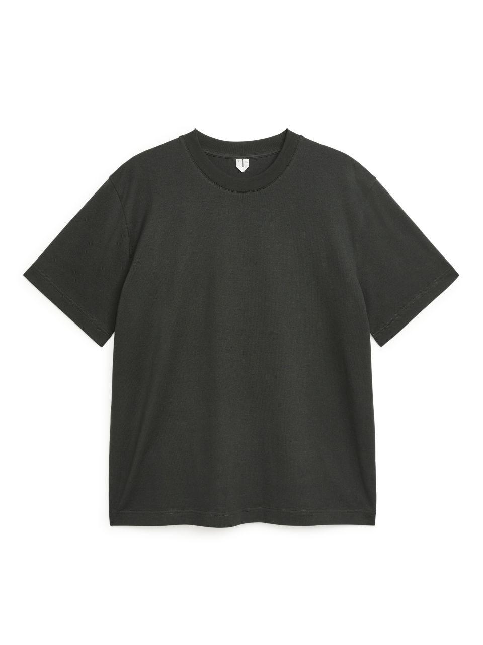 Oversized Heavyweight T-shirt - Brown
