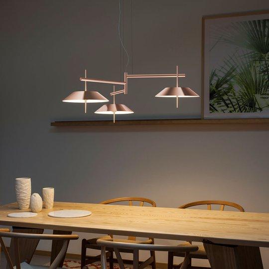 LED-riippuvalaisin Mayfair, 3-lamppuinen