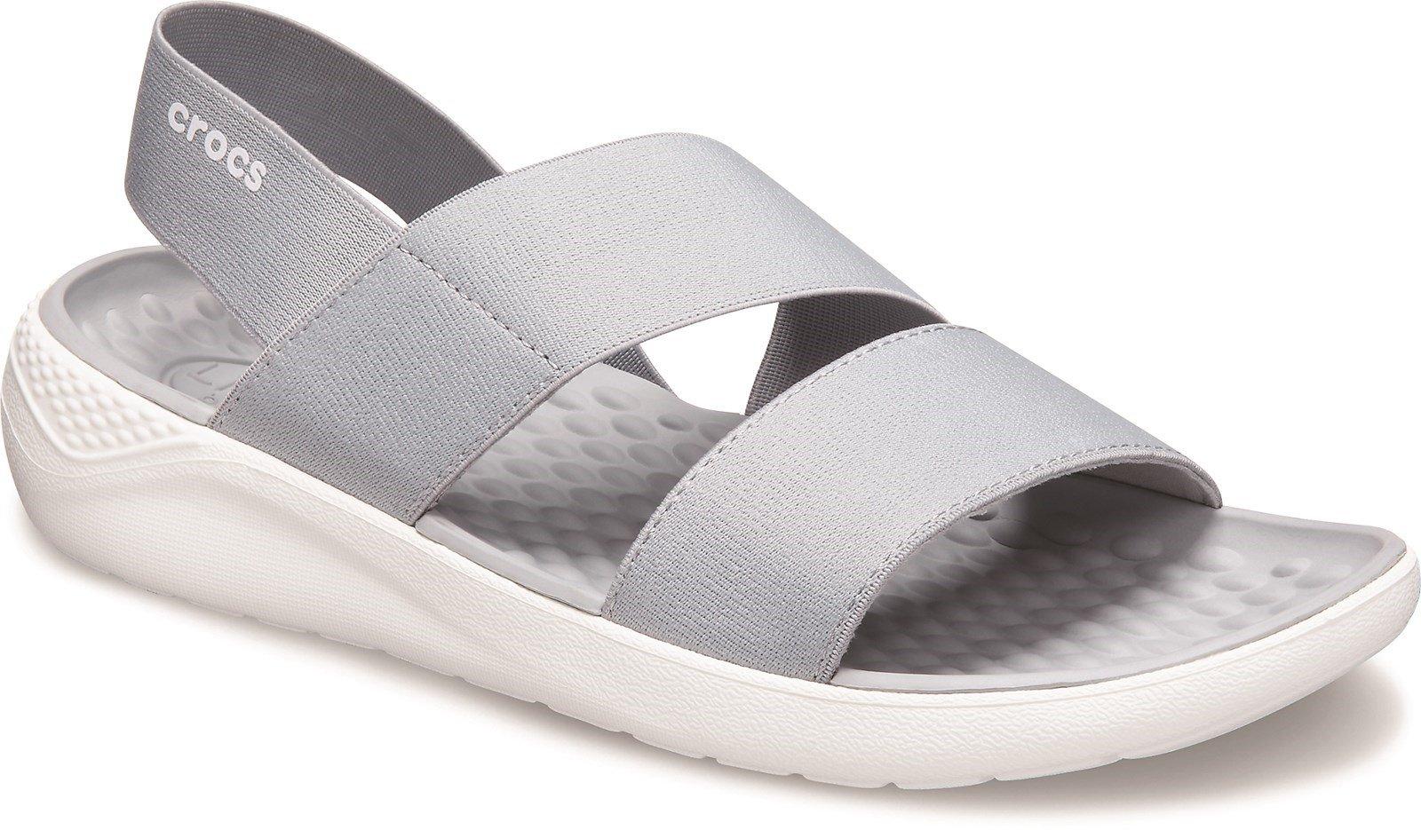Crocs Women's Lite Ride Stretch Slip On Sandal Various Colours 31455 - Light Grey 3