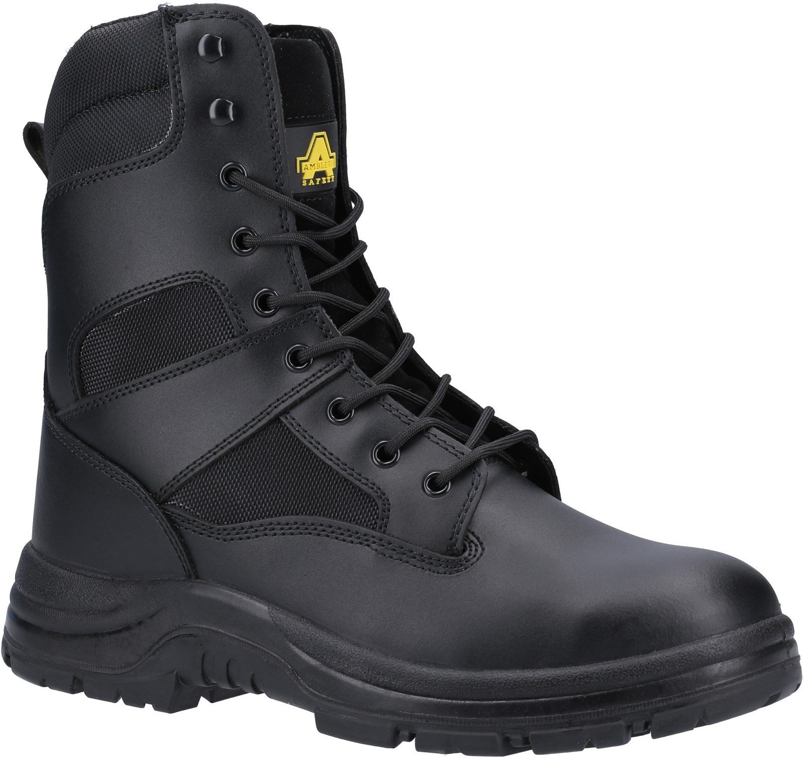 Amblers Unisex Safety Water Resistant Hi leg Lace Up Boot Black 21396 - Black 14