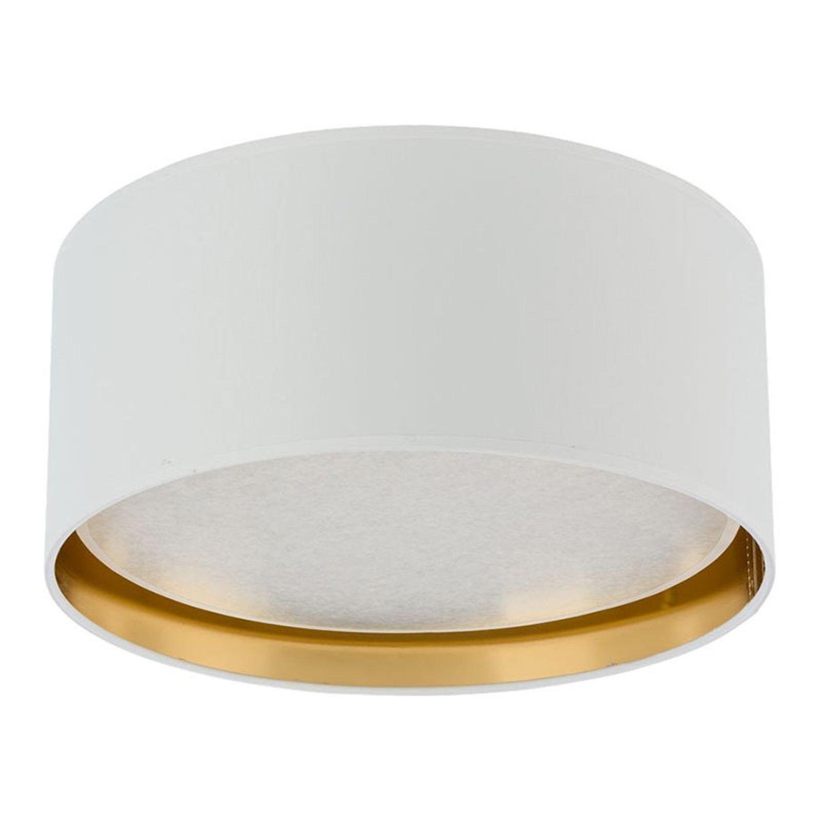 Taklampe Bilbao, Ø 45 cm, hvit/gull