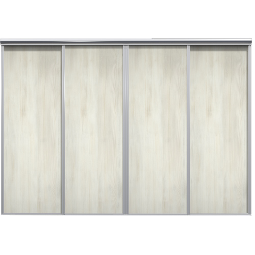 Mix Skyvedør White wood 3700 mm 4 dører