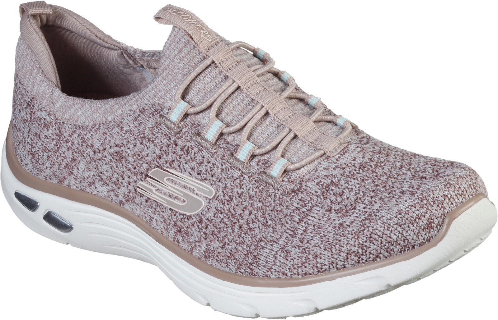 Skechers Women's Relaxed Fit Empire D'Lux Sharp Trainers Various Colours 30300 - Rose 3