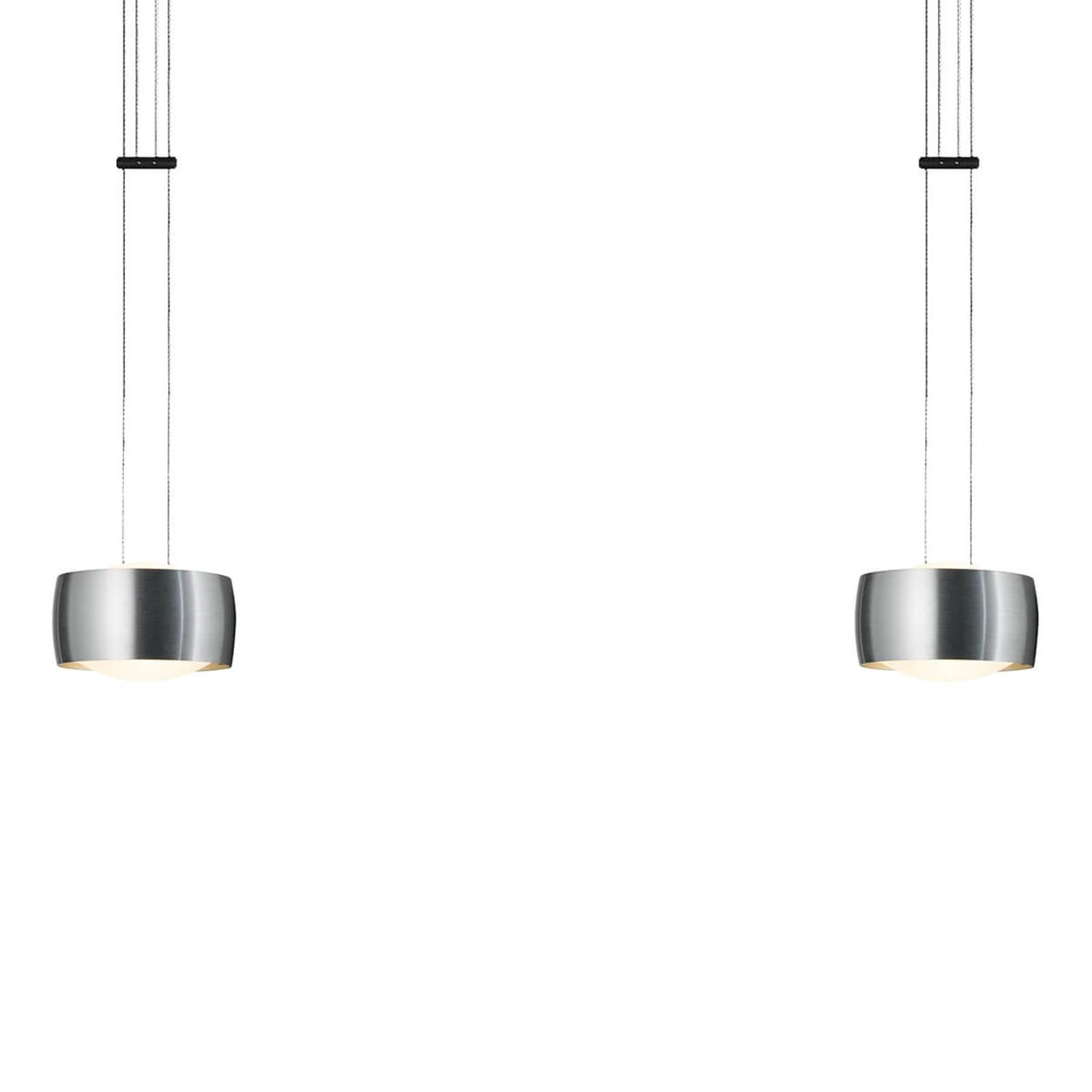 OLIGO Grace LED-riippuvalaisin 2-lamppuinen alu