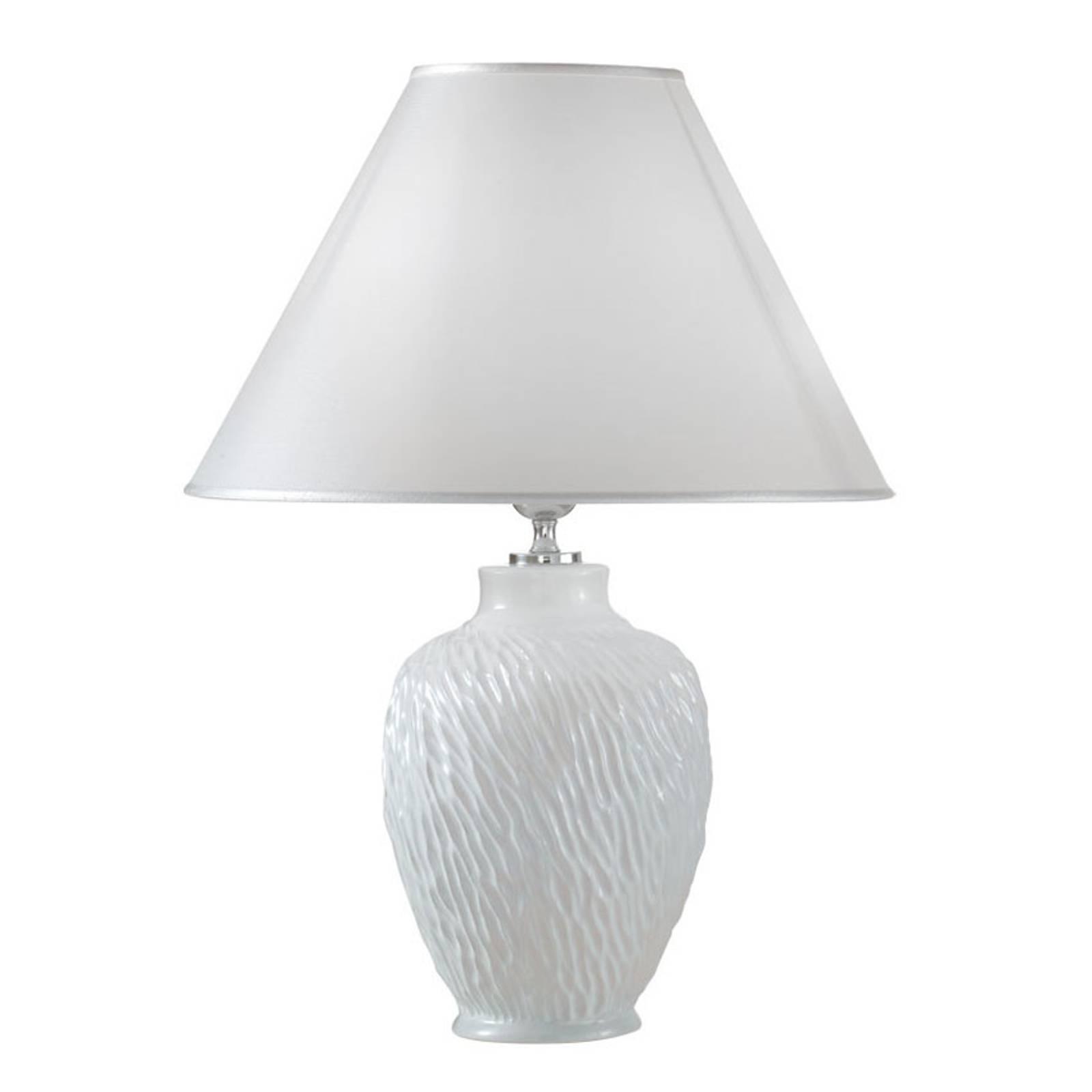 Pöytävalaisin Chiara keramiikkaa, valkoinen Ø30 cm