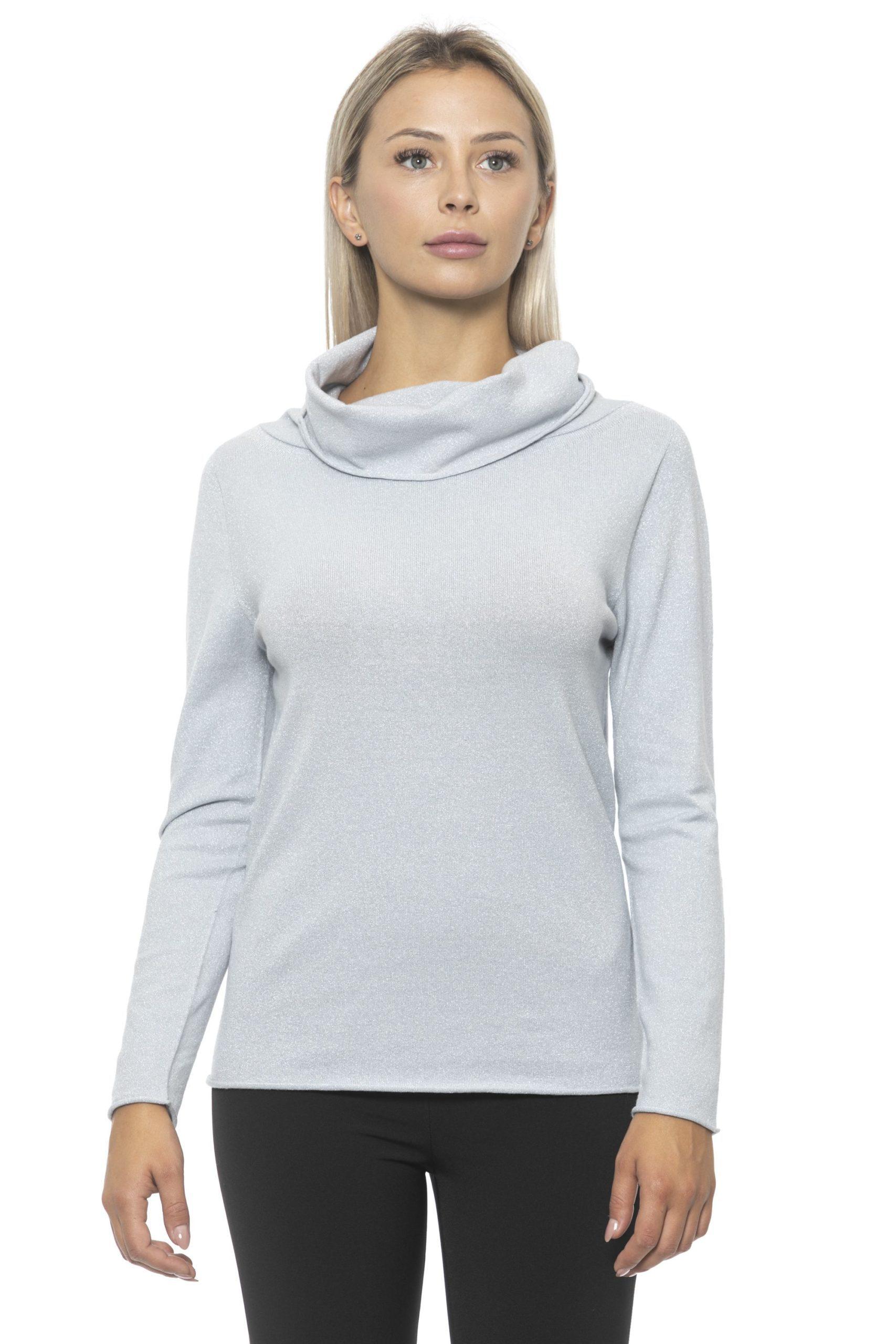 Alpha Studio Women's Perla Sweater Gray AL1314725 - IT40 | XS