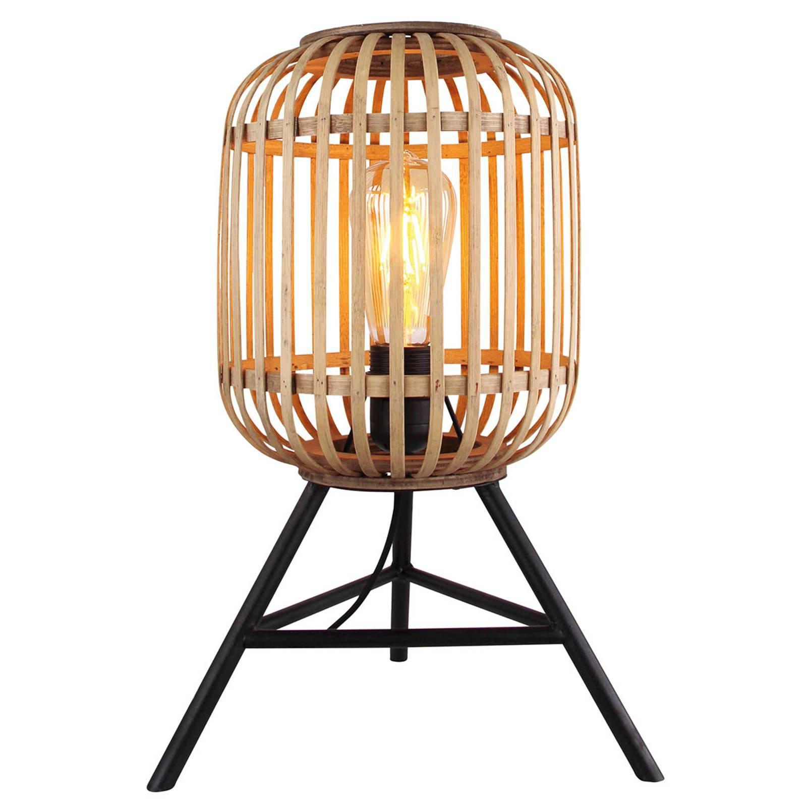 Bordlampe Malaca med treskjerm