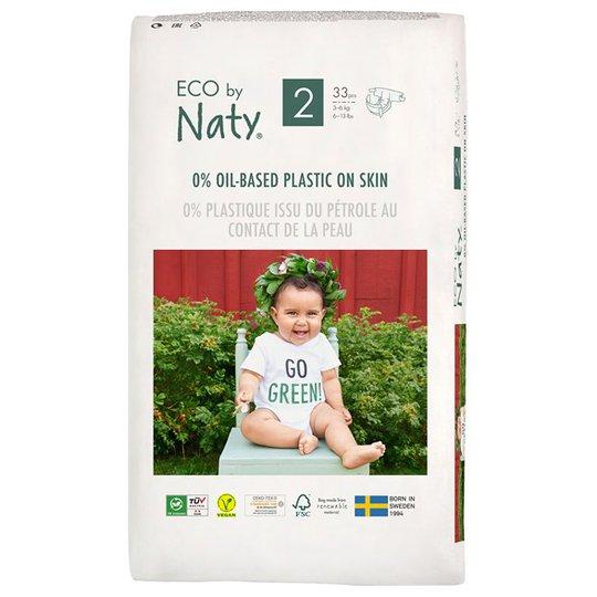 Naty Miljövänliga Blöjor - Storlek 2 (3-6 kg), 33 st
