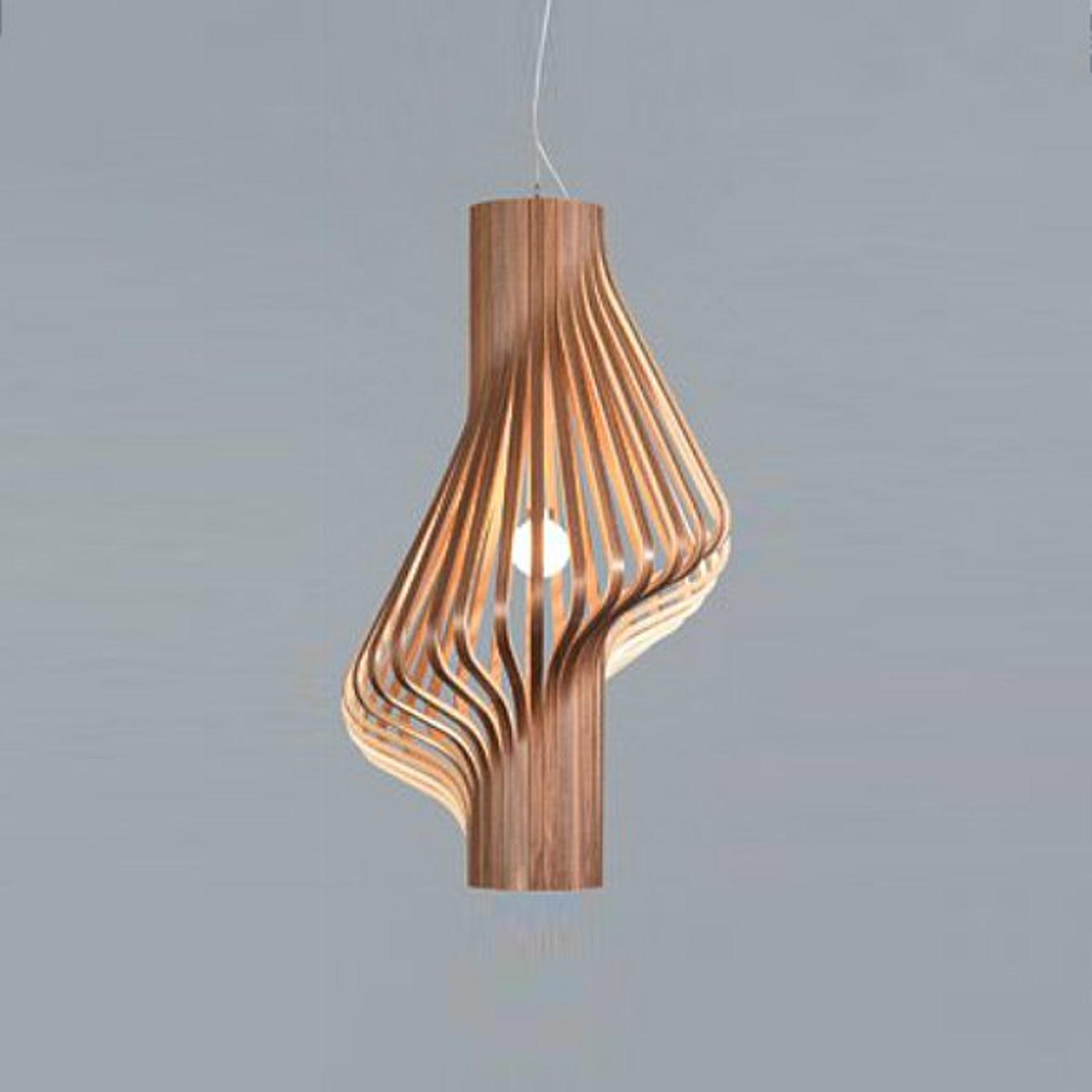 Kaunis design-riippuvalaisin Diva pähkinäpuu