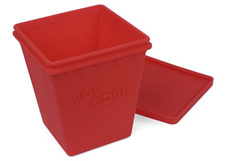 Popcorn boks, rød