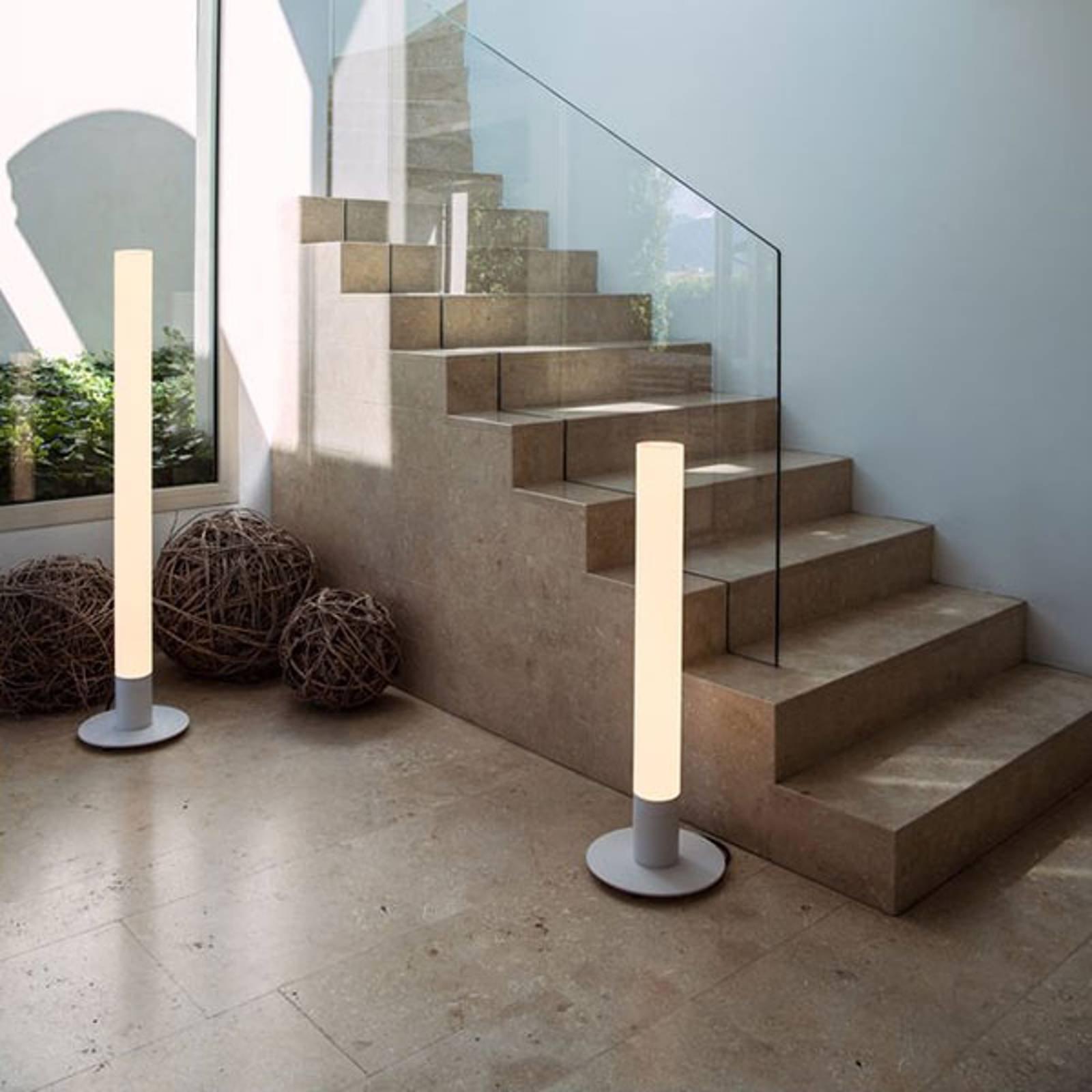 SLV Light Pipe LED-gulvlampe, dimbar, IP55, 90 cm