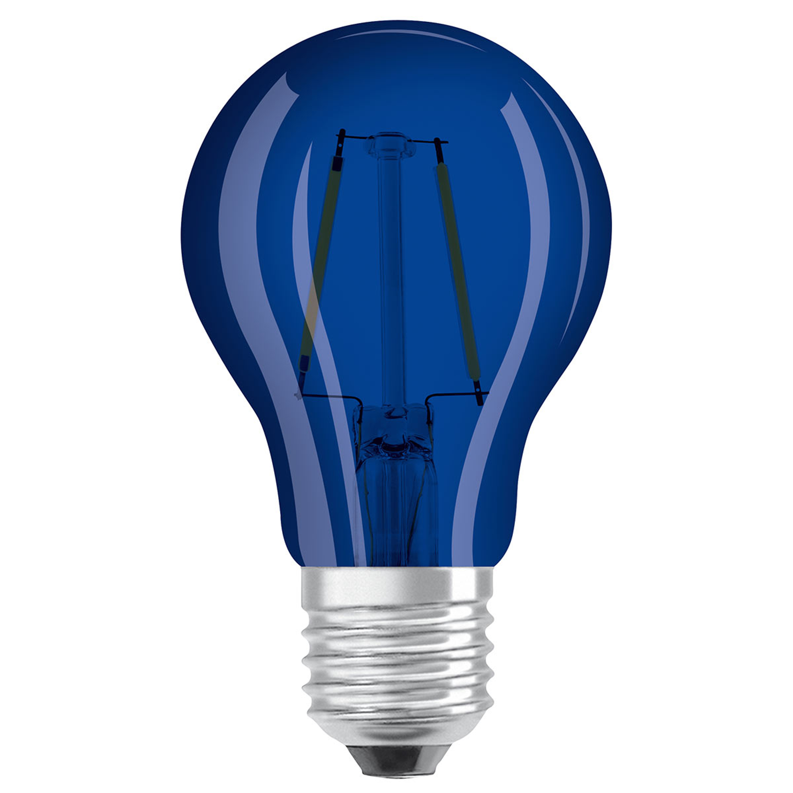 OSRAM-LED-lamppu E27 Star Décor Cla A 2,5W sininen