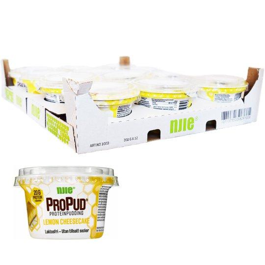 "Hel Låda Proteinpudding ""Lemon Cheesecake"" 12 x 200g - 28% rabatt"