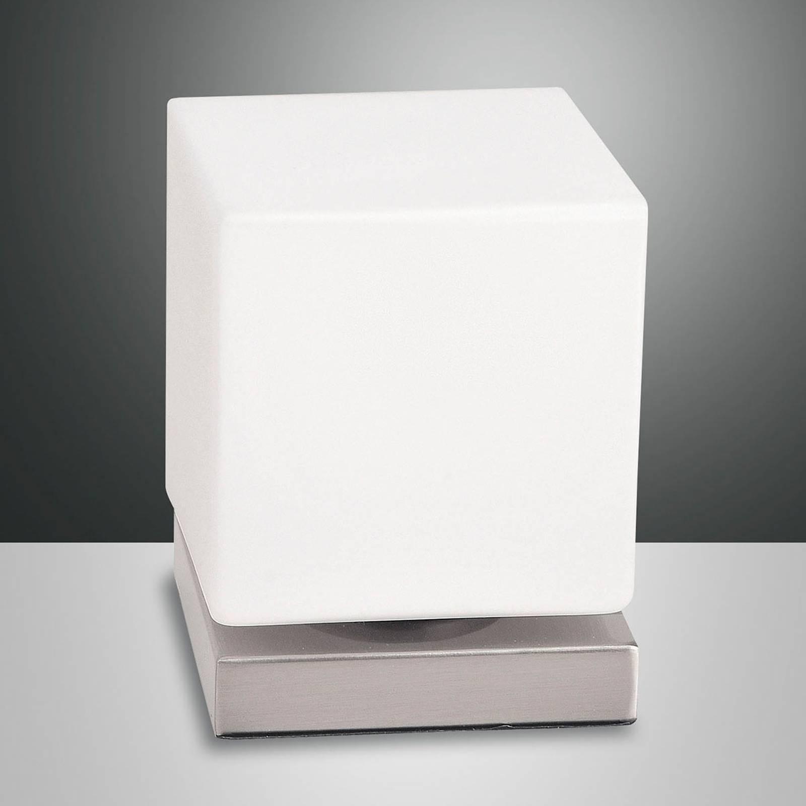 Kosketushimmennin LED-pöytälamppu Brenta nikkeli