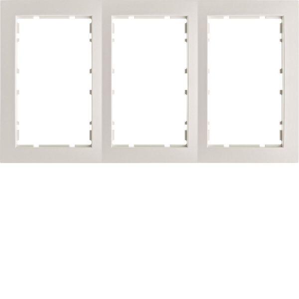 Hager 6510131909 Yhdistelmäkehys 2-suuntainen, S1, valkoinen (Polar White) 3-paikkainen