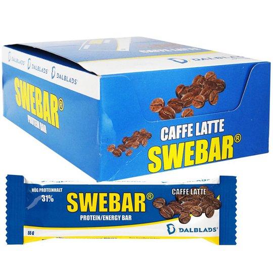 Hel Låda Proteinbars Caffe Latte 20 x 55g - 50% rabatt