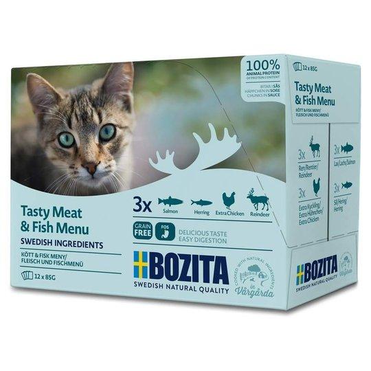 Bozita Feline Våtfoder Multibox med Kött & Fisk 12x85g